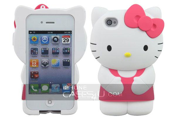hello kitty 3D etui de protection design pour iphone 4S