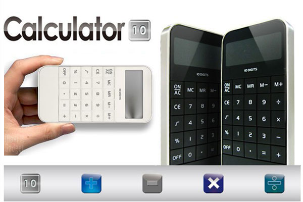 calculatrice style iphone 4S existe en rouge, blanc, noir