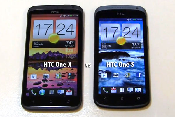 htc one x vs htc one s comparaison video quad core vs dual core android 4.0
