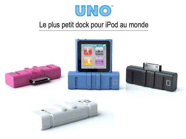uno est le plus petit dock speaker au monde pour ipod