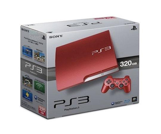 sony PS3 rouge nouvelle couleur pour la playstation 3