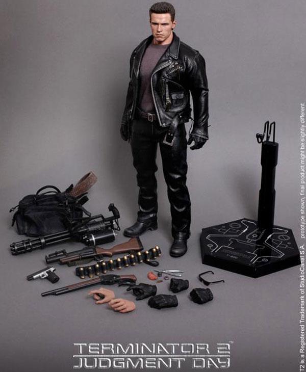 figurine Robocop vs. The Terminator  Plasma Rigle T  800  metalmonde