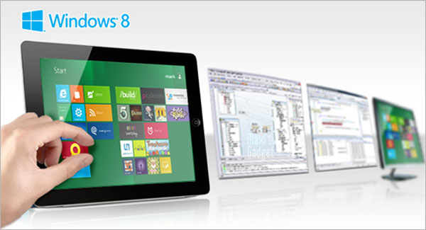 windows 8 metro interface disponible pour tablette ipad ideal pour developpeurs