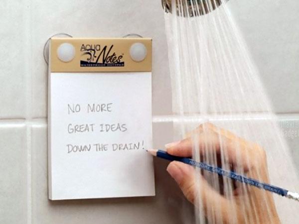 aqua notes bloc-notes etanche pour prendre des notes sous la douche