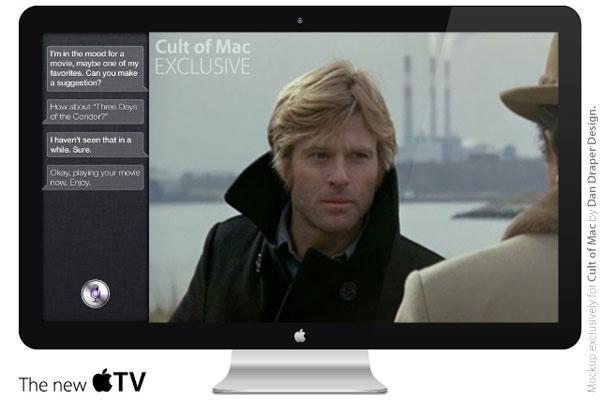 apple itv futur TV HD avec Siri Facetime Reconnaissance faciale