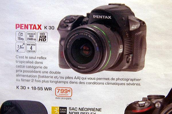 pentax k-30 reflex tout-terrain 16mp pas cher biento en vente