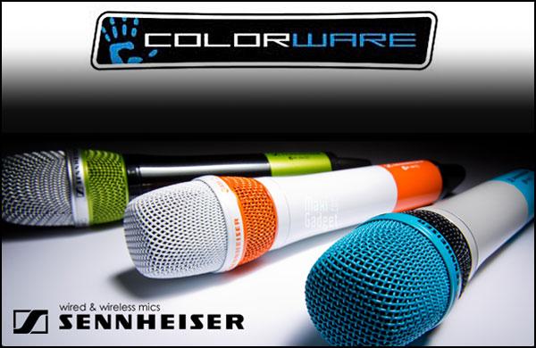 microphones sennheiser de toutes les couleurs avec colorware