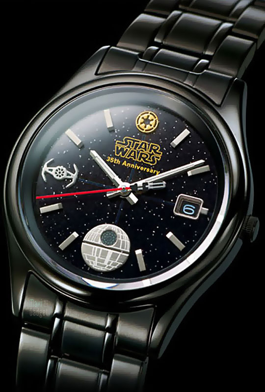 star wars montre dark vador 35eme anniversaire de la franchise (collector)