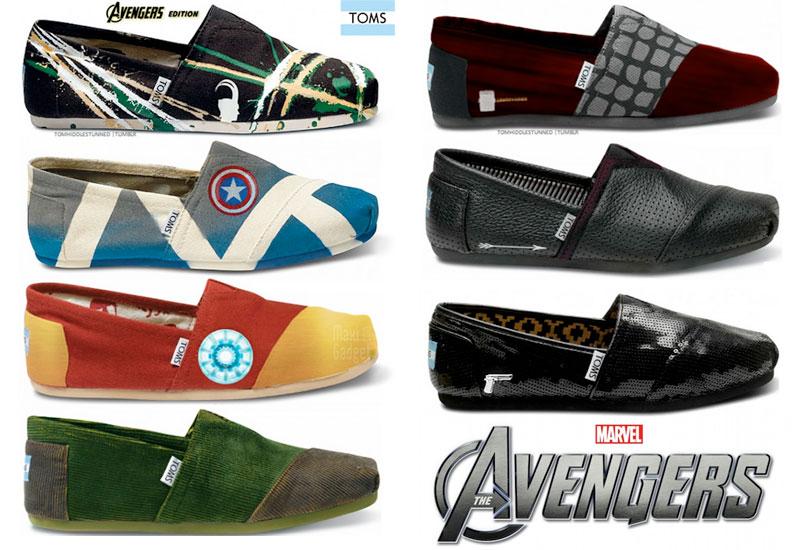 avengers toms shoes superbe collection de chaussures de supers heros