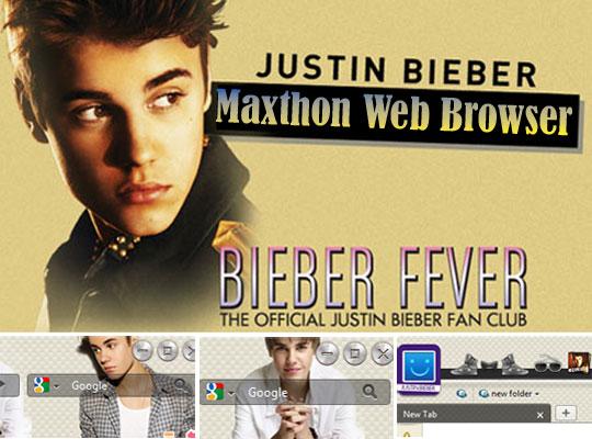 justin bieber navigateur web maxthon gratuit Justin Bieber: Navigateur Web Gratuit pour Fans (PC, Android)