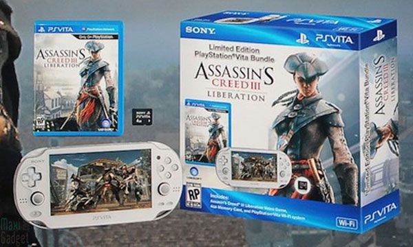 pack ps vita blanche avec assassin creed 3 carte memoire 4 go