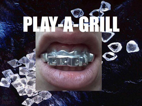 play-a-grill baladeur MP3 en forme de prothèse dentaire