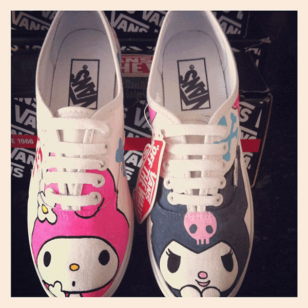 vans chaussures geek hello kitty my melody kuromi Mario, Hello Kitty, Pokemon, Disney: Chaussures VANS de Geek