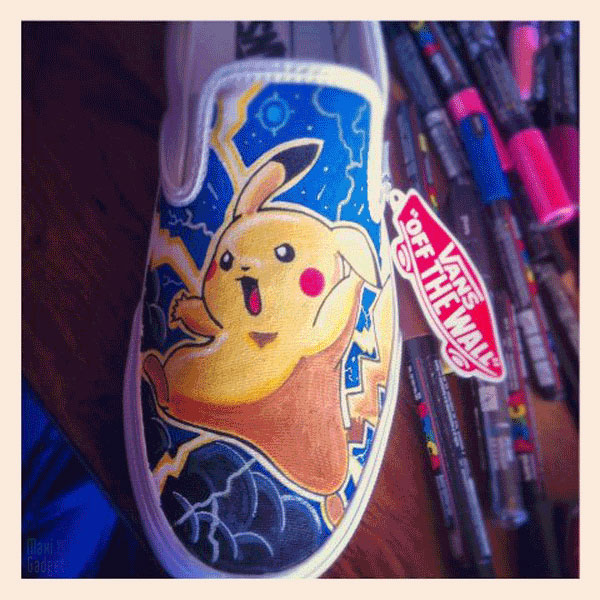 vans chaussures geek pokemon pikachu Mario, Hello Kitty, Pokemon, Disney: Chaussures VANS de Geek