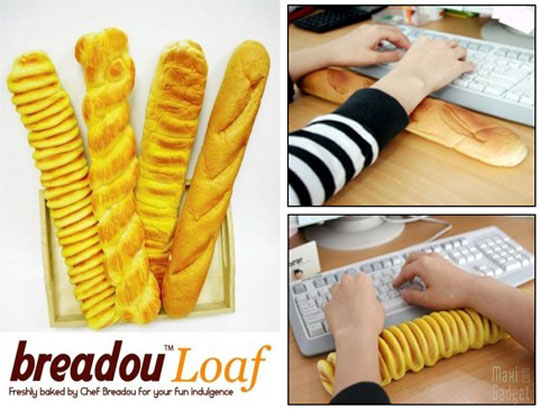 breadou loaf repose poignet pain traditionnel Repose Poignets Ecolo en forme de Baguette de Pain
