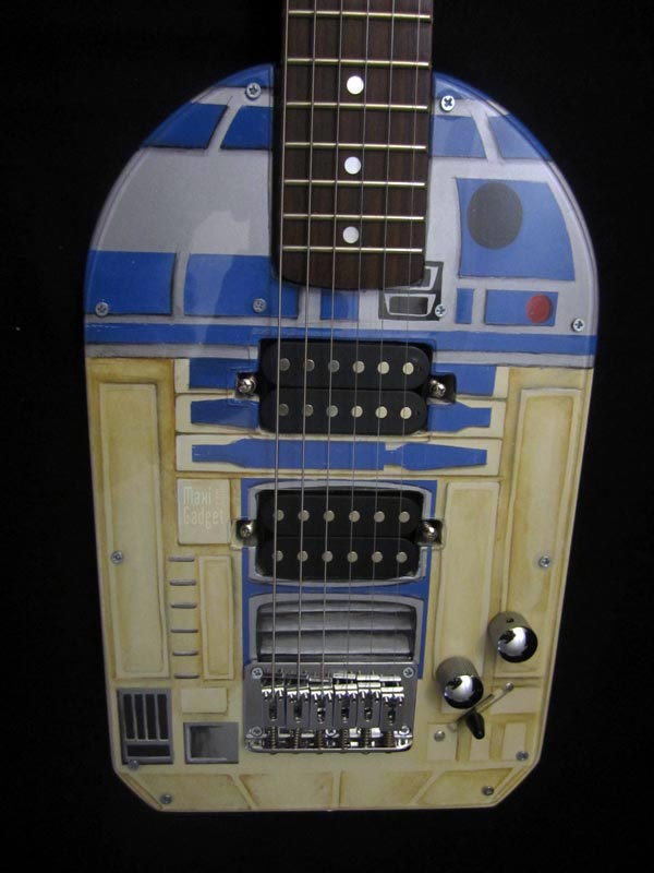 guitare r2d2 original custom Star Wars R2 D2: Superbe Guitare pour Geek Rockeur