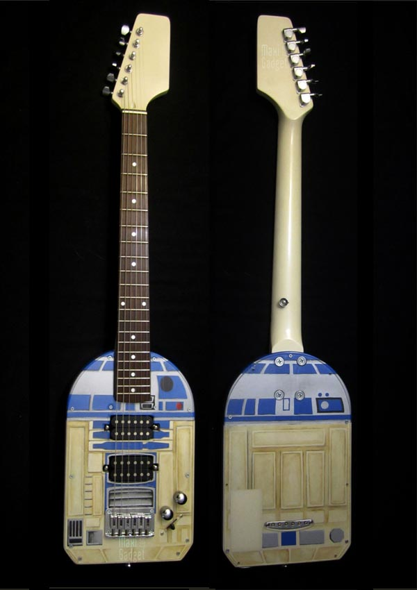 guitare r2d2 Star Wars R2 D2: Superbe Guitare pour Geek Rockeur