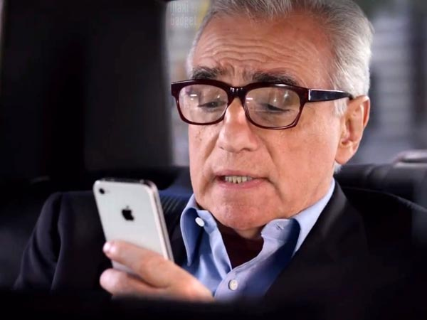 nouvelle pub tv iphone 4S avec Martin Scorsese et Siri