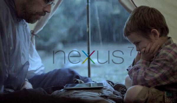 pub video google nexus 7 en camping