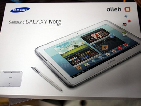 samsung galaxy note 10 deballage 1 Samsung Galaxy Note 10.1: Tablette Quad Core 2Go de RAM
