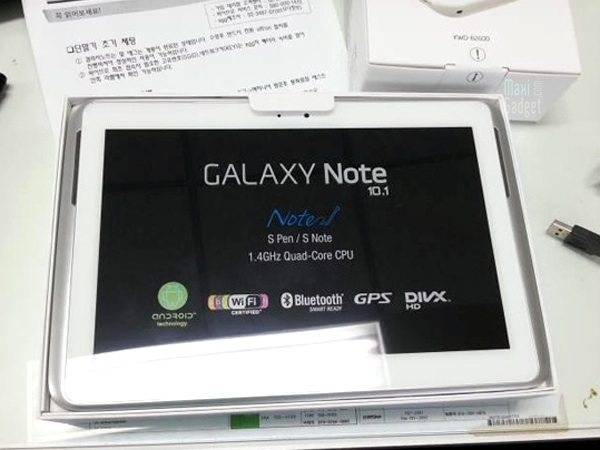 samsung galaxy note 10 deballage 2 Samsung Galaxy Note 10.1: Tablette Quad Core 2Go de RAM