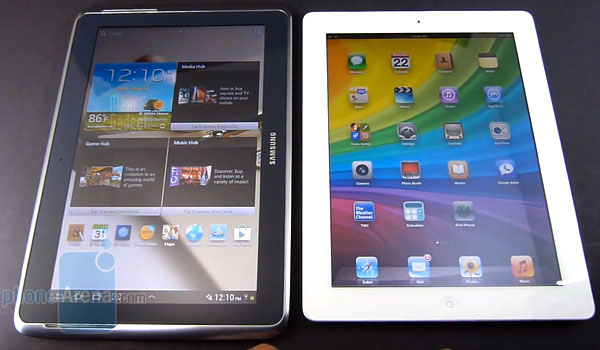 galaxy note 10 1 vs ipad3 comparatif video Galaxy Note 10.1 ou iPad 3: Test Comparatif en Vidéo