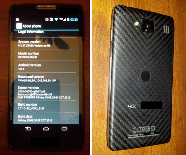 motorola droid razr hd photo live