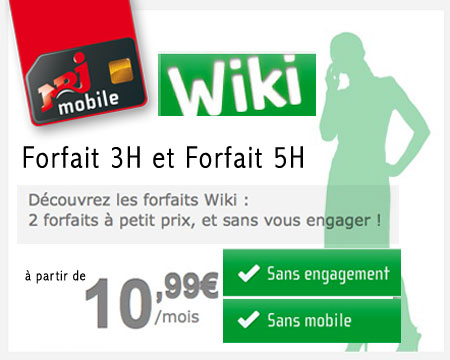 nrj mobile forfaits wiki mini prix NRJ Mobile Wiki: Forfaits sans Engagement à partir de 10,99€