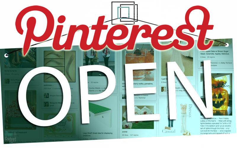pinterest ouvert officiellement au grand public plus besoin d'invitation