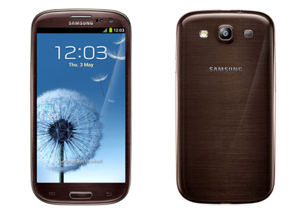 samsung galaxy S3 marron amber brown Samsung Galaxy S3: Nouvelles Couleurs Marron, Gris, Noir, Rouge
