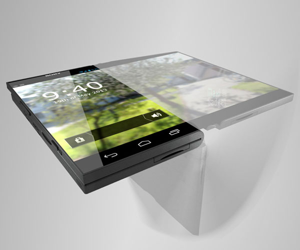 sony pocket tablet concept smartphone ecran flexible oled Sony Pocket Tablet: Smartphone avec Ecran Flexible OLED