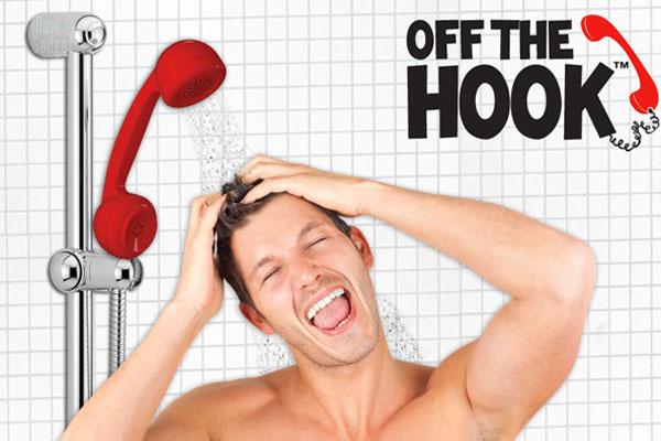 telephone retro douchette Se doucher avec un téléphone rétro, encore un truc de geek