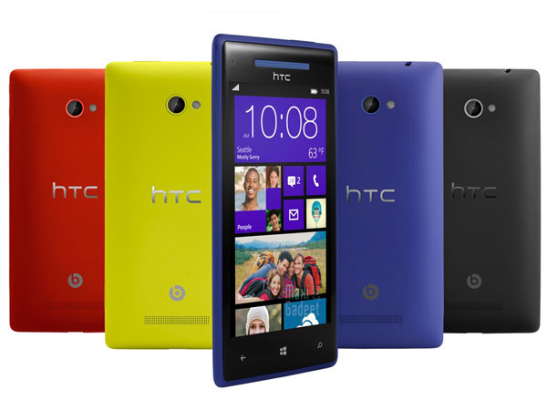 htc 8x htc 8s nouveaux windows phones 8 (photo officielle)