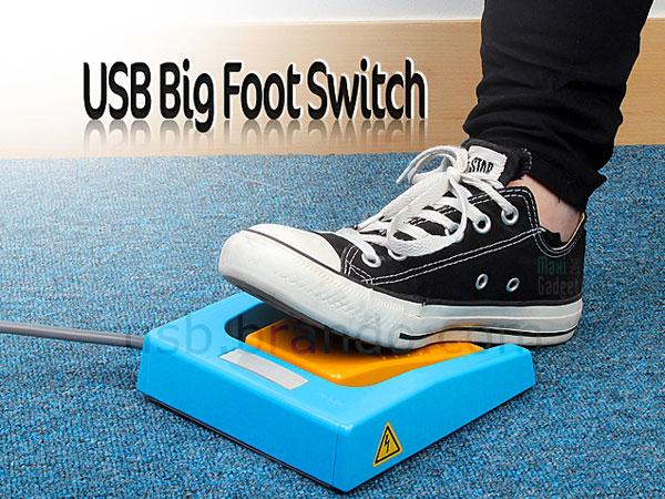 pédale USB big foot switch pour controler son ordinateur avec les pieds