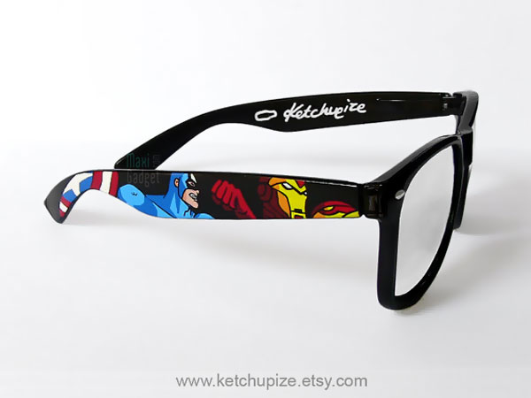 the avengers lunettes geek style rayban The Avengers: Lunettes de Soleil Geek style Ray Ban Wayfarer