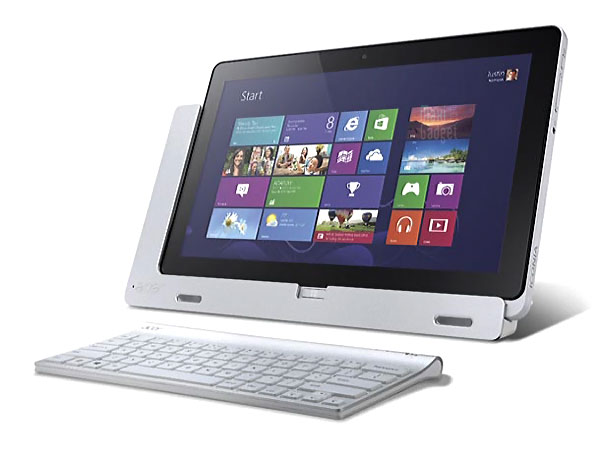 Acer Iconia W700 fiche prix Acer Iconia W700: Tablette Windows 8 Mini PC Core i5 (Video)