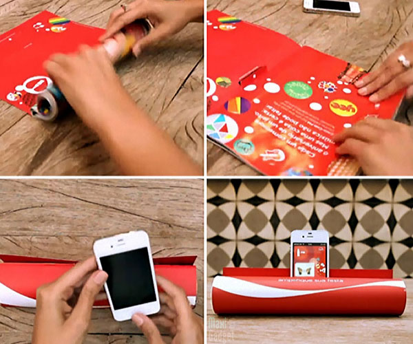 Coca Cola Magazine Amplifier iPhone Coca Cola: Magazine devient Amplificateur pour iPhone (Video)