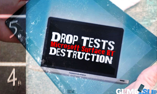 Microsoft Surface Test Resistance Video Crash Test Video: Microsoft Surface RT résistante aux chocs ?