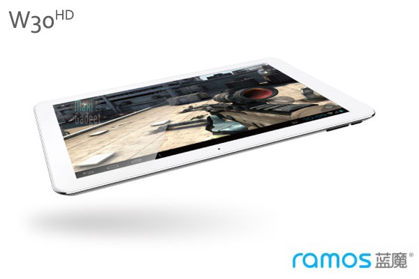 Ramos W30HD Tablet Android Quad Core Full HD 10p Ramos W30HD: Tablette 10 pouces Full HD Quad Core Android 4.0