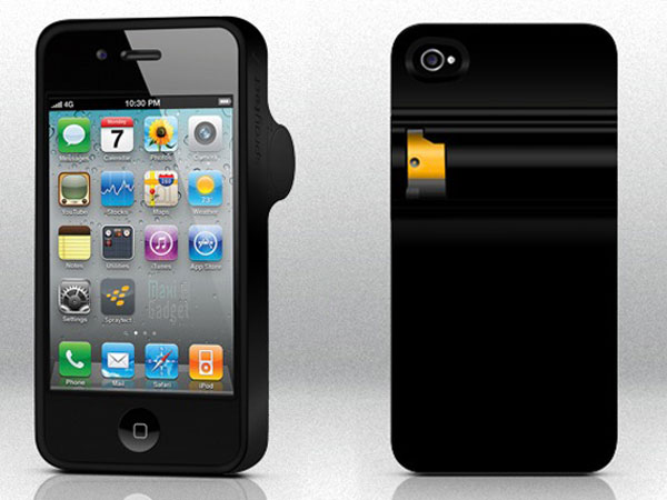 Spraytec boitier iphone spray autodefense Spray Auto Défense dans un boitier iPhone en cas dagression