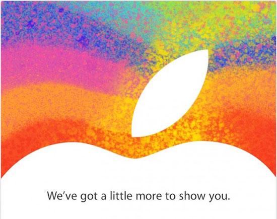 carton d'invitation apple conférence de presse ipad mini keynote 23 octobre 2012