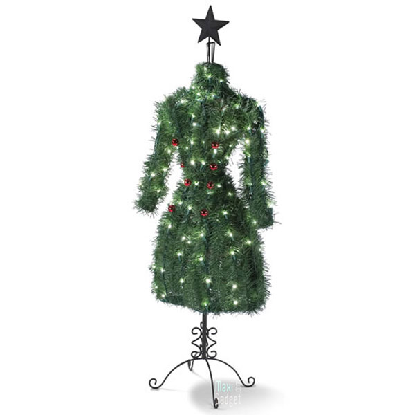 arbre de noel haute couture 150 led Arbre de Noel Haute Couture avec 150 LED pour Fashionista