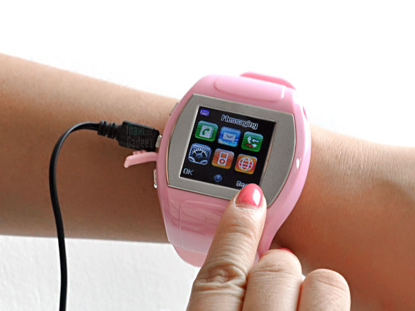 bubble montre mobile tactile geekette Bubble: Montre Mobile Tactile Bluetooth pour Geekette
