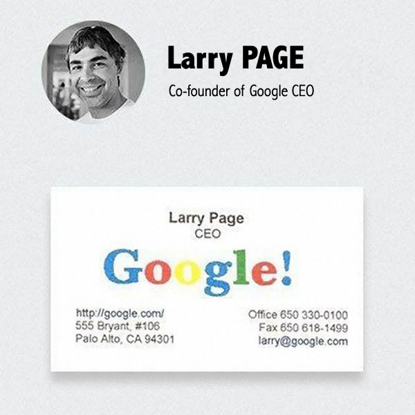 Carte De Visite Larry Page Google