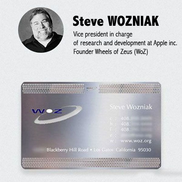 Carte De Visite Steve Wozniak Apple Computer Inc Socit Woz