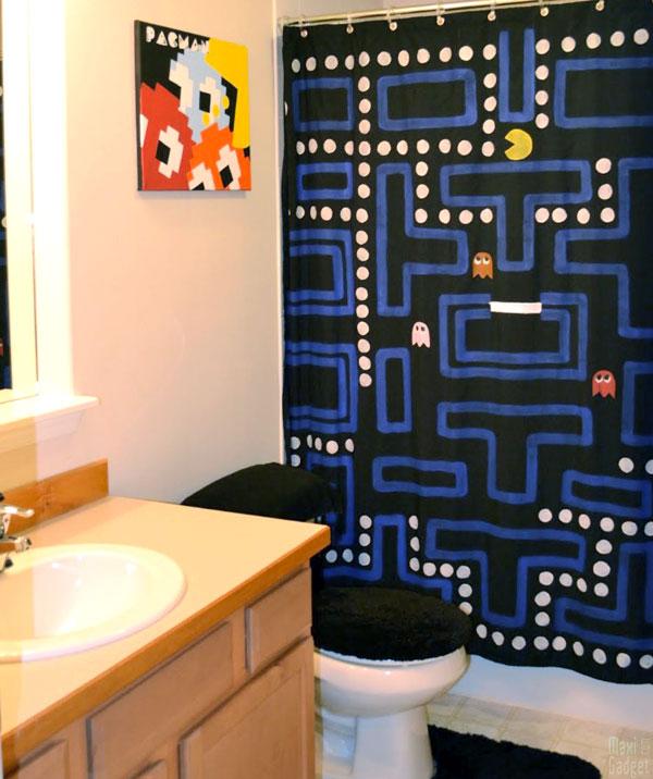 comment faire rideau de douche pac man Pac Man: Rideau de Douche à Faire Soi Meme (Tuto Photos)