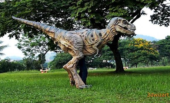 dinausore t-rex en costume halloween terrifiant deguisement