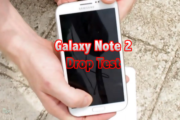 samsung galaxy note 2 test de resistance en video