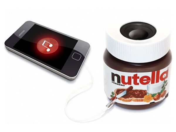 nutella haut parleur bluetooth iphone Boombox Nutella: Haut Parleurs iPhone dans un Pot de Nutella