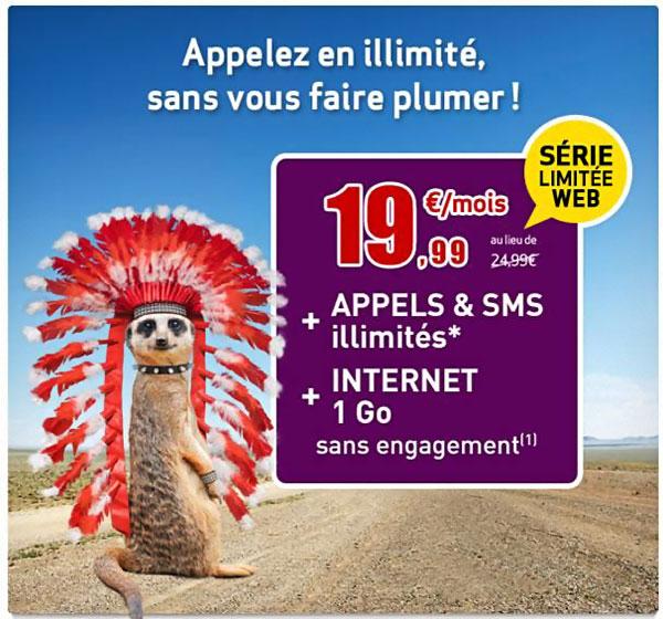 virgin mobile forfait illimité sans engagement pour moins de 20 euros